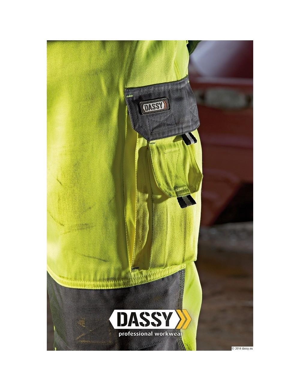 Spodnie Dassy Glasgow ostrzegawcze hi-viz żółte