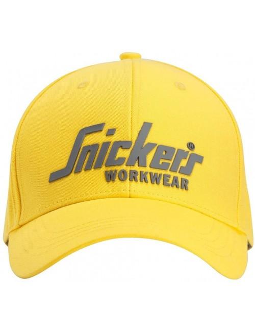 Czapka z daszkiem Snickers logo 9041 żółta