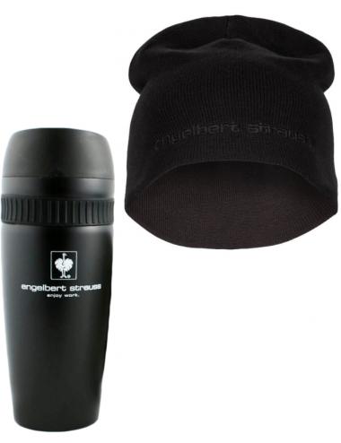 Zestaw prezentowy Engelbert Strauss: kubek termiczny + czapka czarna
