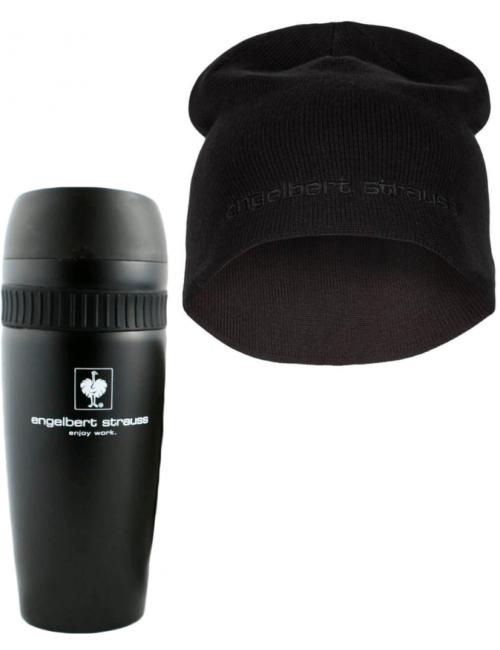 Zestaw prezentowy Engelbert Strauss: kubek termiczny + czapka