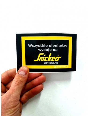 Naklejka Snickers Workwear