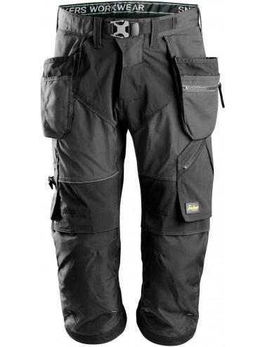 Snickers spodnie robocze FlexiWork+ 6905 piratki szare